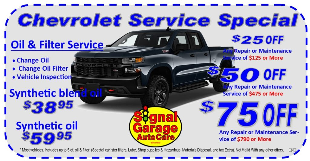Chevy Service Special
