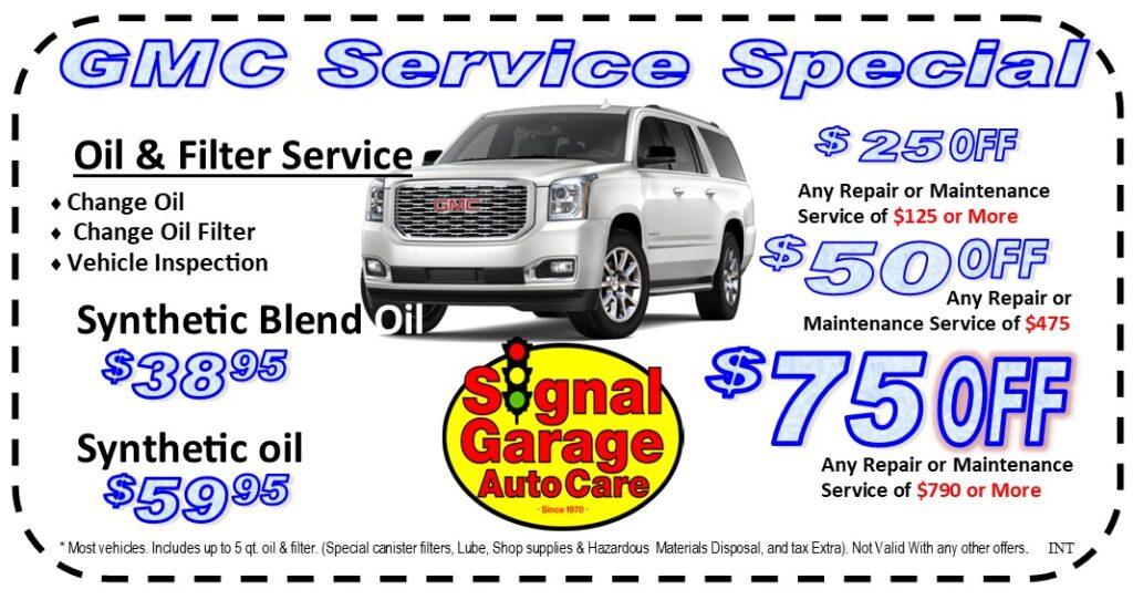 GMC Service Special